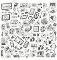 Devices  computers - doodles set vector