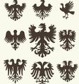 Heraldry set and retro background vector
