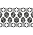 Seamless victorian floral border vector