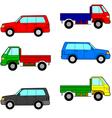 Set cars trucks and cars vector