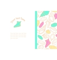 Hand drawn background with cute colorful seashells vector