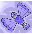 Fantastic violet bird vector