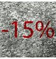 15 percent discount icon symbol flat modern web vector