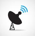 Satellite dish icon vector