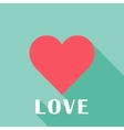 Pink abstract valentines heart sign vector