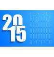 Blue 2015 calendar vector