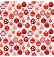 Christmas pattern with vintage balls vector