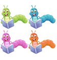 Four worms reading vector