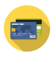 Credit card icon flat concept vector