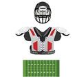 American football field helmet and armour vector