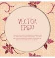 Vintage card with floral mosaic frame vector
