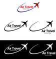 Air travel logo templates vector