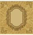 Vintage floral pattern frame vector