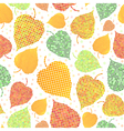 Seamless background with autumn leaves vector