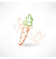 Carrot grunge icon vector