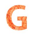 G land letter vector