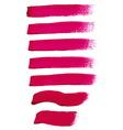 Magenta ink brush strokes vector