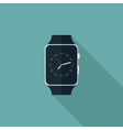 Smart watch flat icon vector