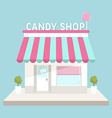 Flat design of small business concept house vector