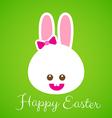 Happy easter smile rabbit bunny cartoon 001 vector