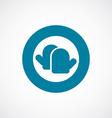 Kitchen holders icon bold blue circle border vector