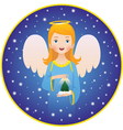 Angel christmas holidays vector