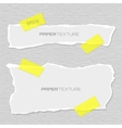 Set of torn papers attached plasters vector
