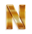 Letter metal gold ribbon - n vector