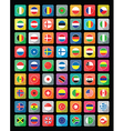 Flat world icons vector
