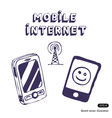 Mobile internet icon tools vector