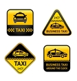 Taxi cab set labels vector
