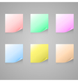 Set of color stick note vector