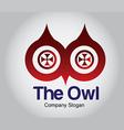 Owl eyes vector