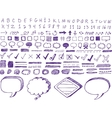 Set of hand-drawn isolated highlighter elements vector