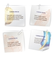 Set of stick notes with doodle feather pattern vector