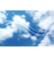 Abstract wave on sky background vector