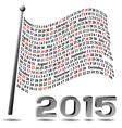 2015 flag calendar vector