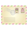 Wedding envelope vector