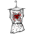 Sketch t-shirts heart vector