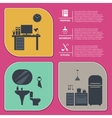 Info graphic of house interior vector