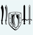 Shield and set dagger vector