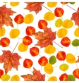 Autumn leaves seamless pattern texture for vector