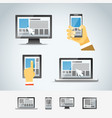 Using modern digital devices vector