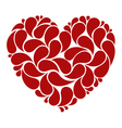 Red heart made of drops vector