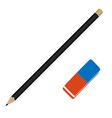 Pencil and eraser vector