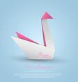 Paper swan vector