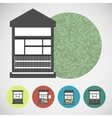 Small set house for street retail vector