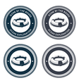 Nautical emblem with life ring vector