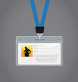 Plastic id badge vector
