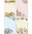 Hand drawn floral cards vector